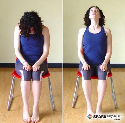 chair yoga warmup continuation